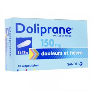 Doliprane 150mg Suppositoires x10