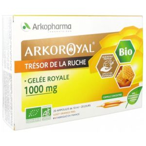 Arkoroyal Gelée Royale Bio 1000mg Ampoules 10ml x20