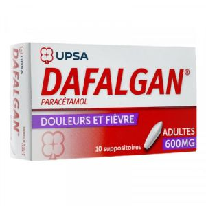 Dafalgan 600mg Suppositoires x10