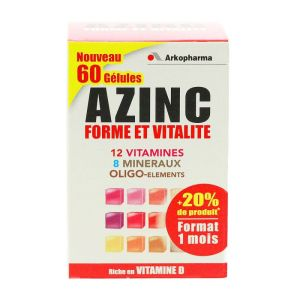 Azinc Adulte 60 Gélules multi-vitamines