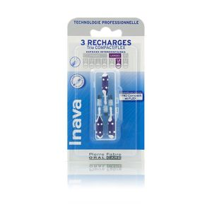 Inava Brossettes interdentaires Recharges Violet 1.8mm x3