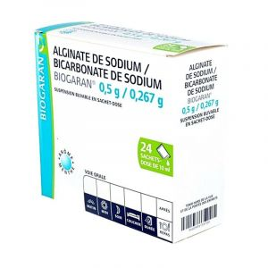 Alginate bicarbonate de Sodium Biogaran Sachet 10ml x24