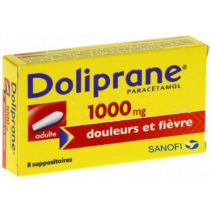 Doliprane 1000mg Adulte Suppositoires  x8