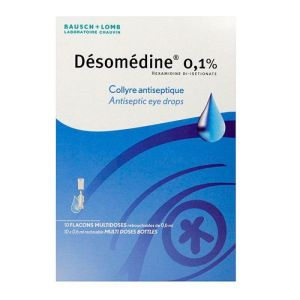 Desomedine Collyre antiseptique Unidose 0,6ml x10