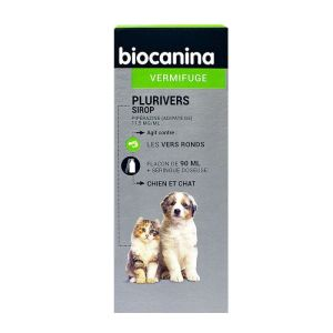 Biocanina Plurivers vermifuge chien et chat Sirop 90ml