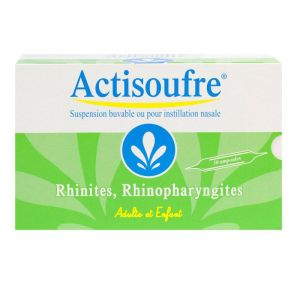 Actisoufre rhume-rhinite 30 Ampoules