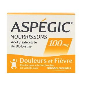 Aspegic 100mg enfants 20 sachets