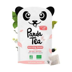 Panda Tea Morning Boost Detox 28 sachets: Thé à base de plantes Bio