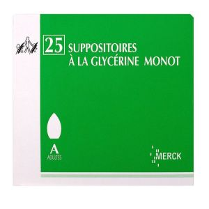 Glycerine Suppositoires Adulte Monot x25