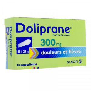 Doliprane 300mg Suppositoires x10