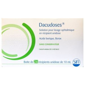 Dacudoses Solution pour Lavage Ophtalmique Unidose 10ml x24