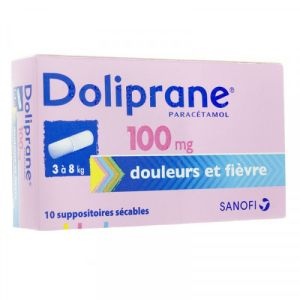 Doliprane 100mg Suppositoires Sécables x10