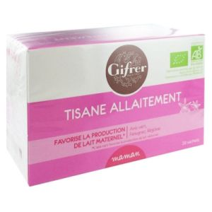 Gifrer Tisane Allaitement Fruits Rouges 20 sachets Bio