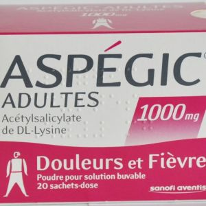 Aspegic 1000mg Adulte Sachets x20