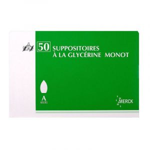 Glycérine Suppositoires Adulte Monot x50