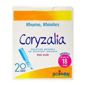 Coryzalia rhume/rhinite enfant/adulte Solution Buvable Unidoses x20