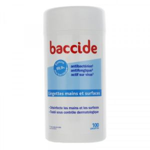 Baccide Désinfectant Main/surfaces Lingettes x100