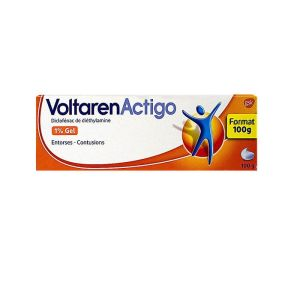 Voltarenactigo 1% Gel Tube 100g