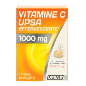 Vitamine C 1000mg Upsa Comprimés Effervescents x20