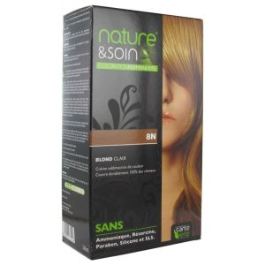 Nature&soin Coloration permanente teinte Blond Clair 8N