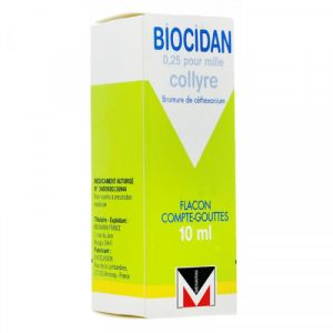 Biocidan 0,025% Collyre Flacon 10ml