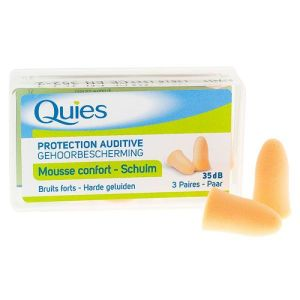 Quies Protections auditives Mousse Chair x3 paires