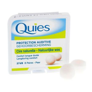 Quies Protections auditives en Cire naturelle 8 Paires