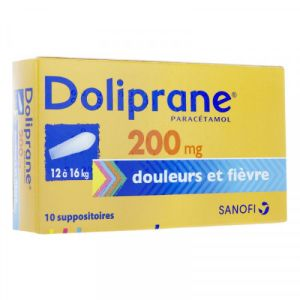 Doliprane 200mg Suppositoires x10