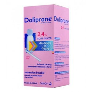 Doliprane 2,4% Suspension Buvable 100ml