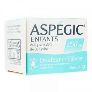 Aspegic 250mg Enfant Sachets x20