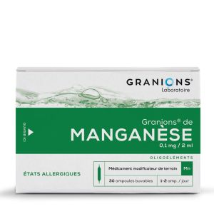 Granions Manganese Ampoules Buvable 2ml x30