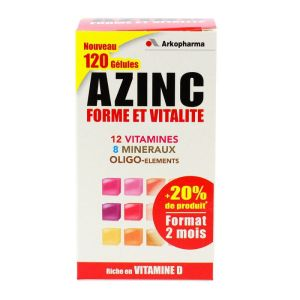 Azinc Adulte 120 gélules multi-vitamines