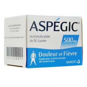 Aspegic 500mg Sachets x20
