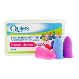 Quies Protections auditives Mousse Disco x3 Paires