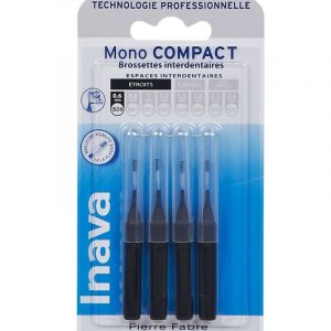 Inava Brossettes interdentaires  Mono compact Noir 0.6mm x4
