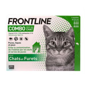 Frontline Combo Chat Pipettes x6 anti-puces