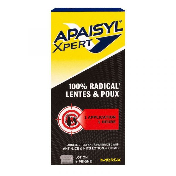 Apaisyl Xpert poux & lentes lotion traitante 100ml